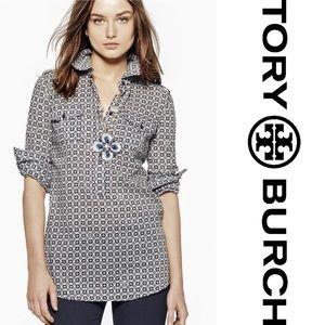 EUC: Tory Burch Brigette Tunic Geometric Print